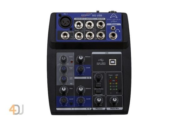 Wharfedale Pro Connect 502 USB Mini Mixer with USB