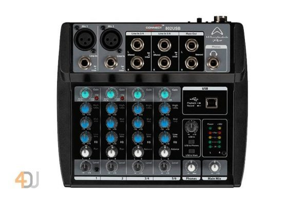 Wharfedale Pro Connect 802 USB Mini Mixer with USB
