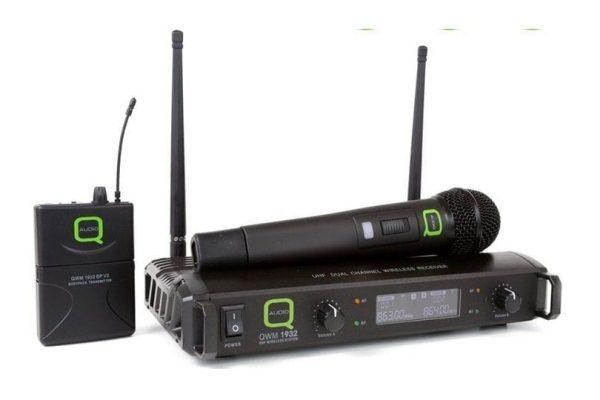Q-Audio QWM 1932 V2 HH + BP Wireless Microphone