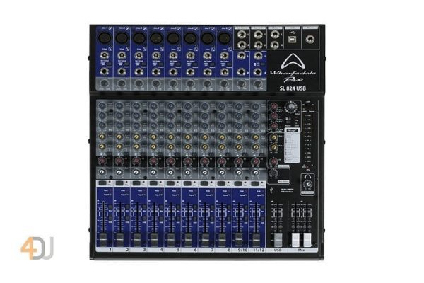 Wharfedale SL824 USB 12 Channel Mixing Desk