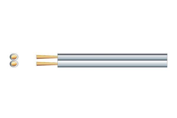 79 Strand Flexible Heavy Duty Speaker Cable White Per Meter