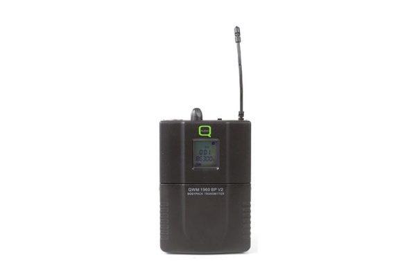 Q-Audio QWM 1960 V2 BP UHF Dual Channel Wireless Microphone