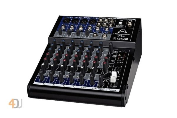 Wharfedale SL424USB 8 Channel USB Mixing Desk