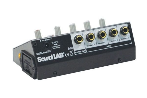 Soundlab G105AA 4 Channel Mono Microphone Mixer 9V
