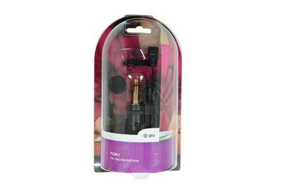 QTX Tie-clip Microphone Uni Directional Mini Electret Condenser Lapel