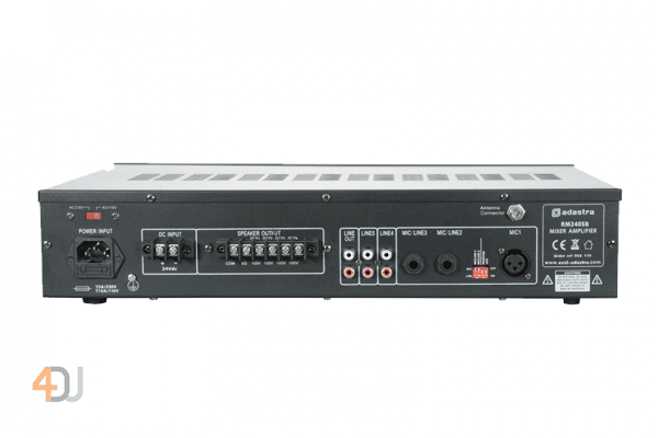 Adastra RM240SB 240W 100V Line Amplifier With Bluetooth