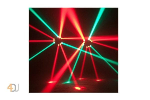 Ibiza Light 9Beam-Mini Spider Light Effect 3x3 Zone Sweeping Beam 296