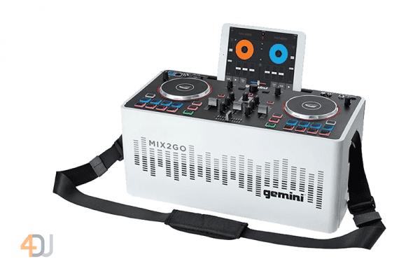 Gemini MIX2GO Portable DJ Mixer with Built Light Show