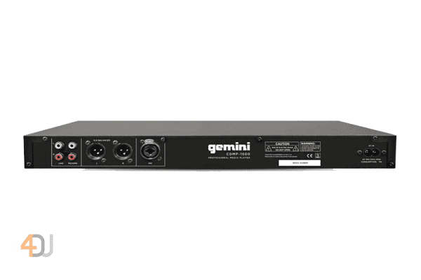 Gemini CDMP-1500 1U Single CD/MP3/USB Player