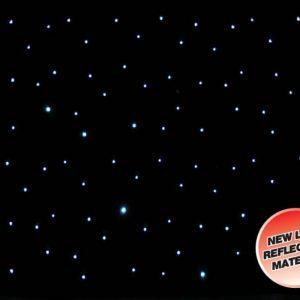 LEDJ 8 x 4.5m Black LED Starcloth Black Cloth