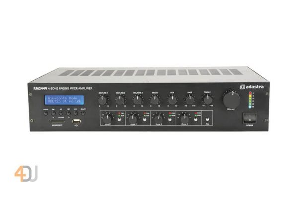 Adastra 100v Mixer-Amp With 4-Zone Paging